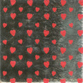 125 Heart Print Foil Sweet Wrappers
