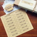 48 'Handmade' Stickers - 70mm x 15mm