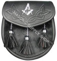 Masonic Sporran with Emblem Celtic design on top