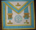 Centennial Worshipful Master, Past Master Apron with Lodge Badge