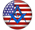 2.5  Dia Decal  3mm Laminated  Stars and Stripes with Blue Square & Compass with G