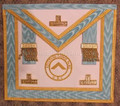 Centennial  Gold Trim Officer Apron  with  Gold Lodge Badge