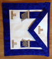 Past Master Masons Apron Royal Blue  with Silver Ornaments