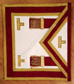 Past  Master Masons Apron Burgandy red with Gold Trim