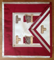 Grand  Stewards   Apron  Crimson Silver Trim
