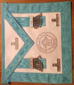 Master Master  Apron with Silver Lodge Badge