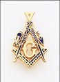 MASONIC PENDANT  GOLD