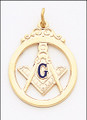 MASONIC PENDANT 3 GOLD