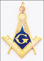 LARGE MASONIC PENDANT GOLD MAS16112PEN