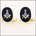 MASONIC 14K GOLD CUFFLINKS