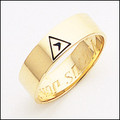 Scottish Rite Ring 01 14th Degree 6MM GOLD