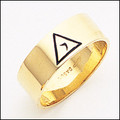 Scottish Rite Ring 02  14th Degree 8MM GOLD
