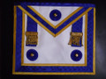 Centennial MM Apron Royal Blue Gold Trim