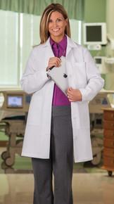 """37"""" Meta Women's 5 Pocket Lab Coat, 80/20 super twill (0-20,40-48,Tall 8-20)"""