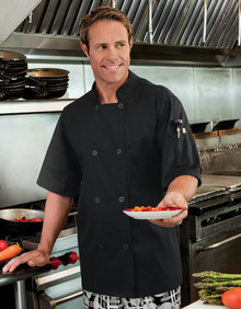 Men's Moisture Wicking Mesh Back Chef Coat, size:XS-5XL
