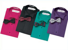 Unisex/Men's Colored Tuxedo Shirt (Long, Short, Sleeveless)
