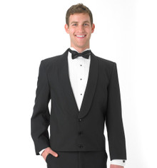 His Black Eton Jacket w/Black Cloth Lapel (34-60)
