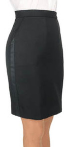 Above-the-Knee Tuxedo Skirt, size 2-28
