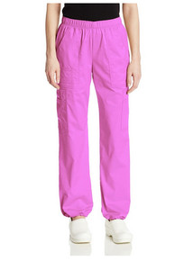 Core Stretch by Cherokee Workwear Women's Bungee Cargo Pant 4005 (Reg,Pet,Tall)