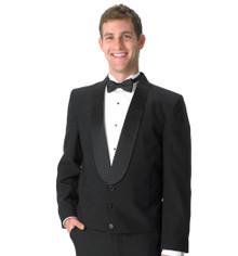 His Black Eton Jacket w/Black Satin Lapel (34-60)
