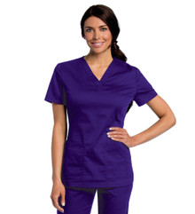 Landau 4143 All Day Women's Y-Neck Scrub Top (XS-5XL)