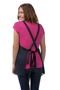 "Daystar 200XX 24"" Three Pocket Criss Cross Bib Apron"