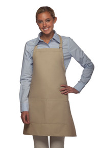 "Daystar 212 28"" Centered Divided Pocket Bib Apron"