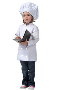 Daystar 950 White LS Child Chef Coat