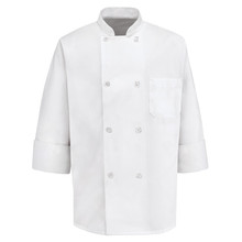 Unisex 8 Button Basic Chef Coat, size:XS-5XL,Tall L-3XL