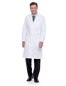 "44"" Landau Labcoat, poly/cotton twill, size:32-52"