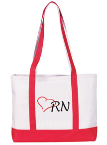 Tote Bag - RN on Red