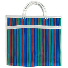 Recycled Market Large Bag Striped and Plaid.
