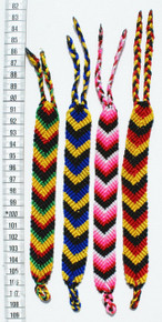 "Multicolored Wide Bracelets Arrow Pattern 1.50"" Wide x 9"" (Four Pack)"