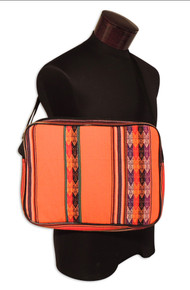 """Handwoven Laptop Case with Adjustable Strap and Zipper 15"""" x 17"""""""