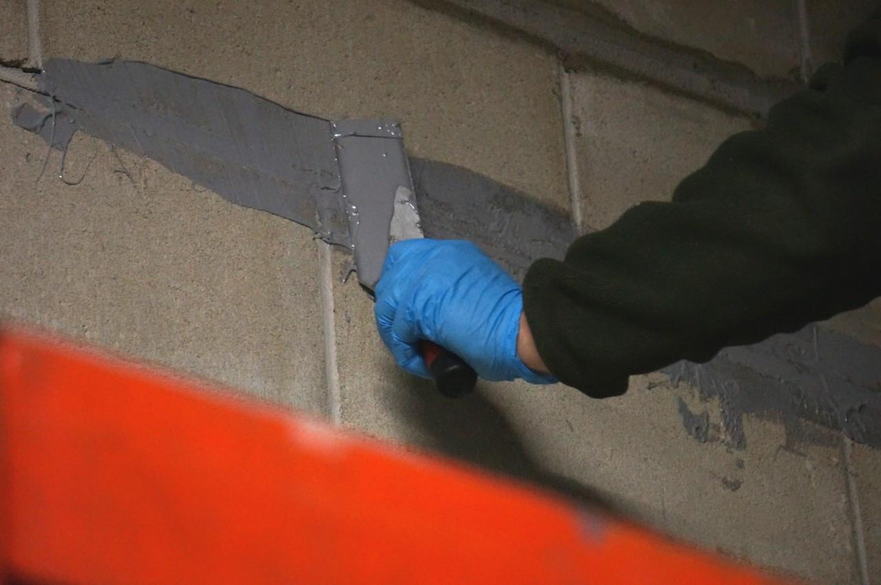 Vertical Concrete Repair Concrete Wall Crack Repair