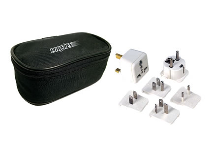 International Adapters for PowerEx MH-C204W / MH-C801D / MH-C808M, Universal Travel Plug Adapter Kit