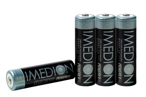 PowerEx IMEDION AA 2400mAh Low Self-Discharge Rechargeable Batteries (4-Pack)