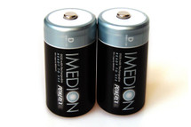 PowerEx IMEDION Rechargeable D Batteries - 9500mAh, Ultra Low Self-Discharge (2-Pack)