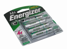 Energizer Rechargeable AA Batteries - 4-Pack, NiMH 2450mAh
