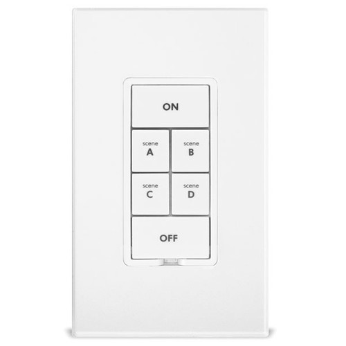 Insteon 2486DWH6 KeypadLinc 6-Button Scene Controller w/ 600W Dimmer Switch