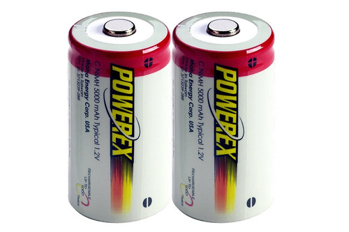 PowerEx Rechargeable C Batteries - NiMH 5,000 mAh