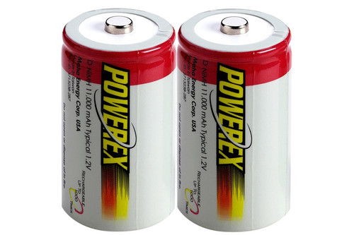 PowerEx Rechargeable D Batteries - NiMH 11,000 mAh