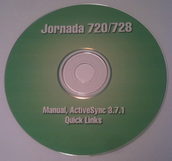 Manual and Software CD For HP Jornada 720 & 728 Handheld PC
