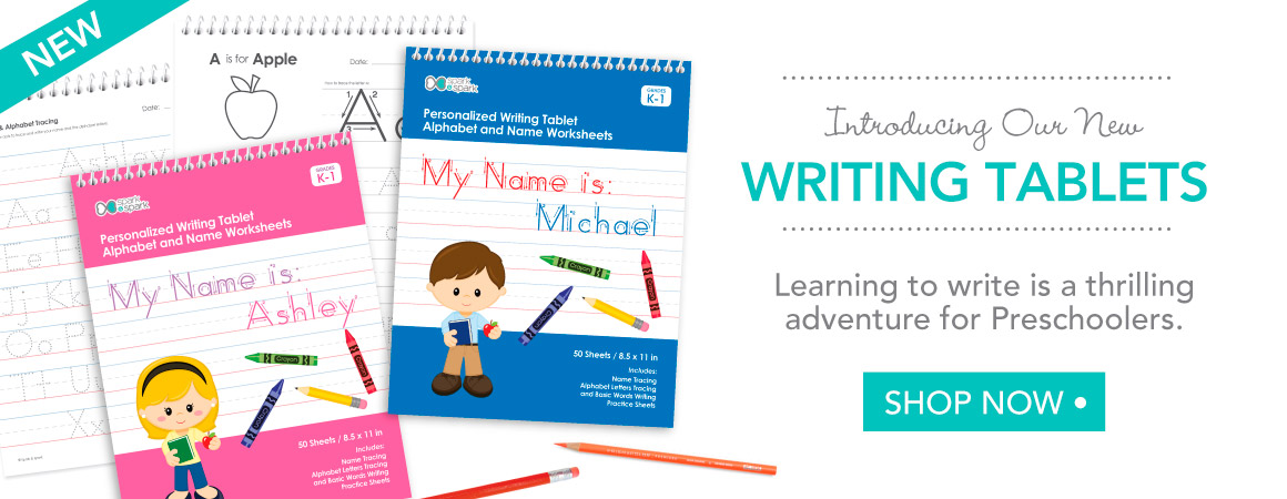 Let your kids practice writing with their own personalized writing book