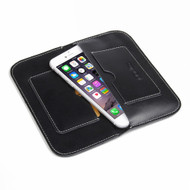 PDair Black Leather Simple Wallet for Apple iPhone 7