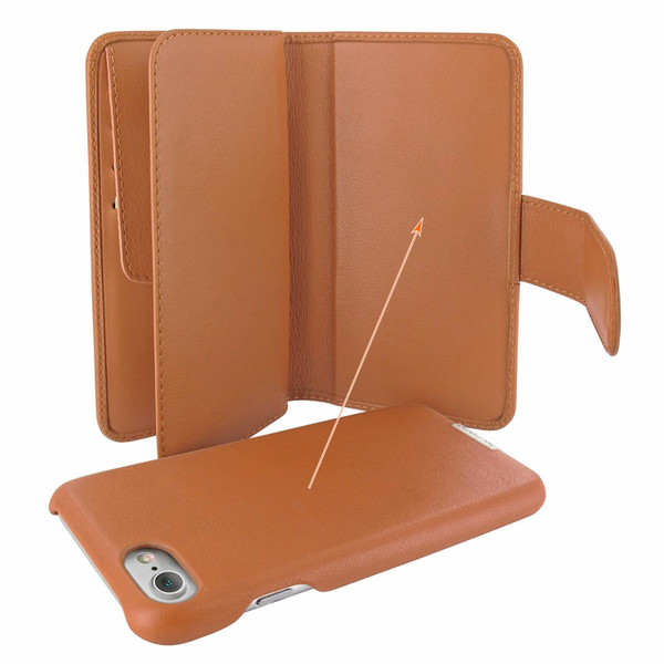 Piel Frama 764 Tan WalletMagnum Leather Case for Apple iPhone 7