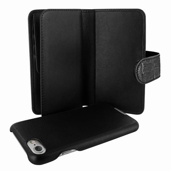 Piel Frama 764 Black Crocodile WalletMagnum Leather Case for Apple iPhone 7