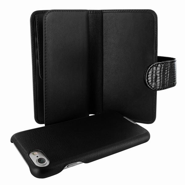 Piel Frama 764 Black Lizard WalletMagnum Leather Case for Apple iPhone 7