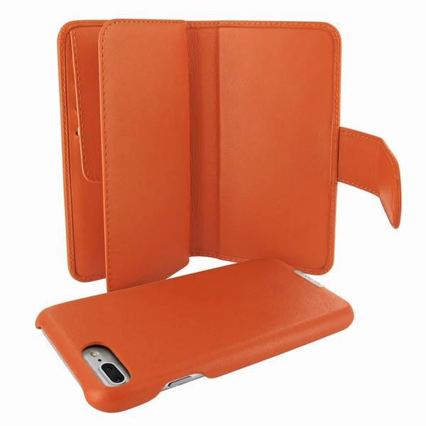 Piel Frama 769 Orange WalletMagnum Leather Case for Apple iPhone 7 Plus