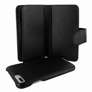 Piel Frama 769 Black Ostrich WalletMagnum Leather Case for Apple iPhone 7 Plus